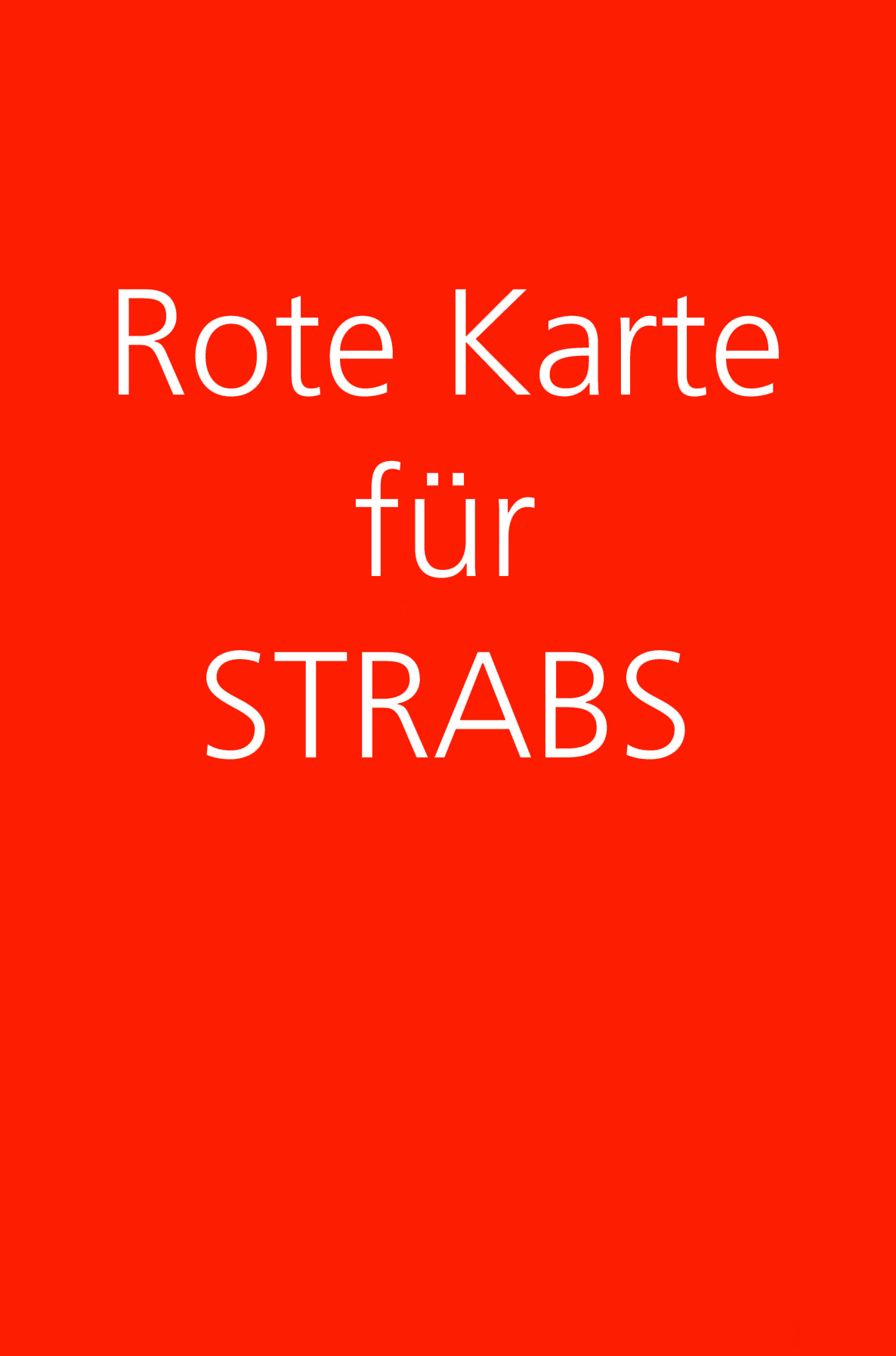 Rote Karte für STRABS